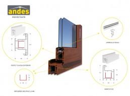 Composición perfil Andes proyectante