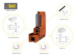 composición perfil ventana S60