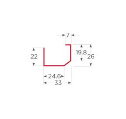 Ref multiple con inclinacion 1.2 mm